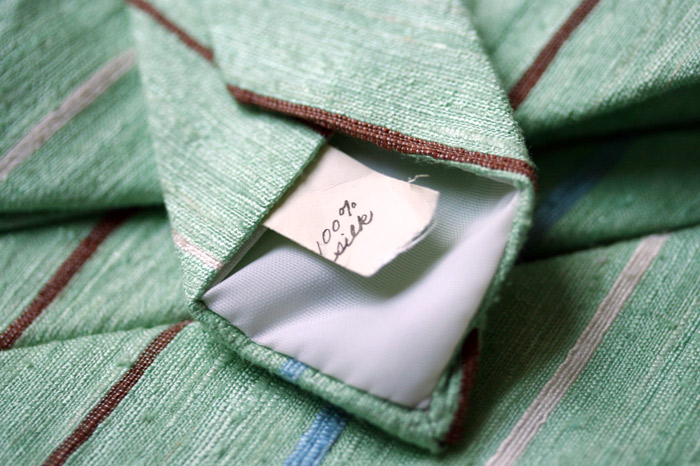 soft green silk tag