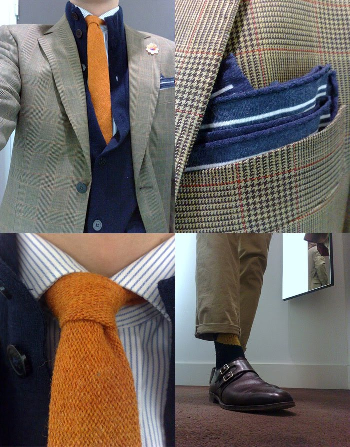 Orange tie collage