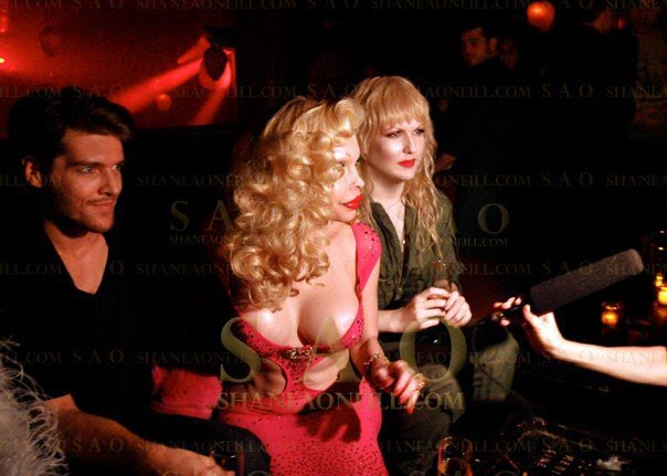 Amanda Lepore and Darian Darling interviewed by German TV TAFF at Hiro in Chelsea NYC