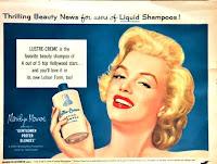 Vintage Marilyn Monroe hair shampoo ad