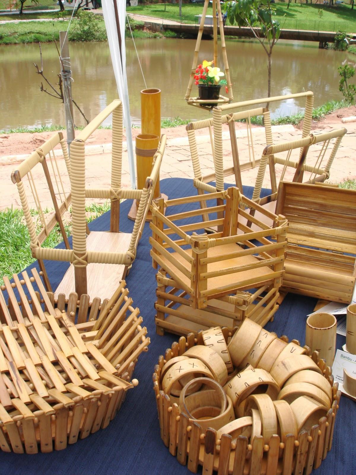 Artesanato Com Cd Velho ~ Feira UBÁ Bauru Bambu Artesanatos