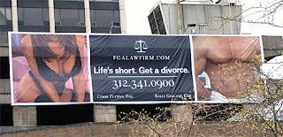 Life's short. Get a divorce billboard