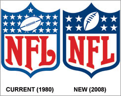 1980 and 2008 NFL logos