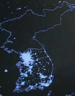 North Korea in the dark...