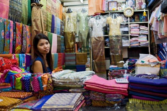 La vendedora de telas