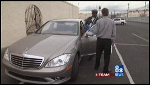 Assemblyman Arberry drives away from tough questions about his back taxes in his $91,000 Mercedes Benz