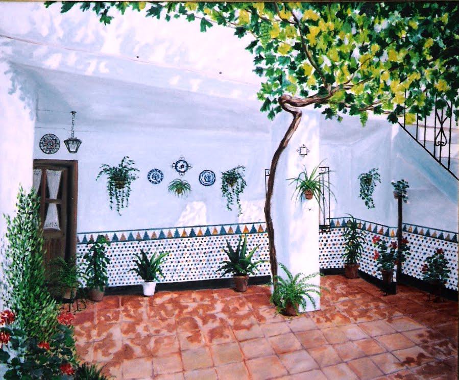 Azulejos patio andaluz parque de febrero el rosedal y los for Azulejos patio