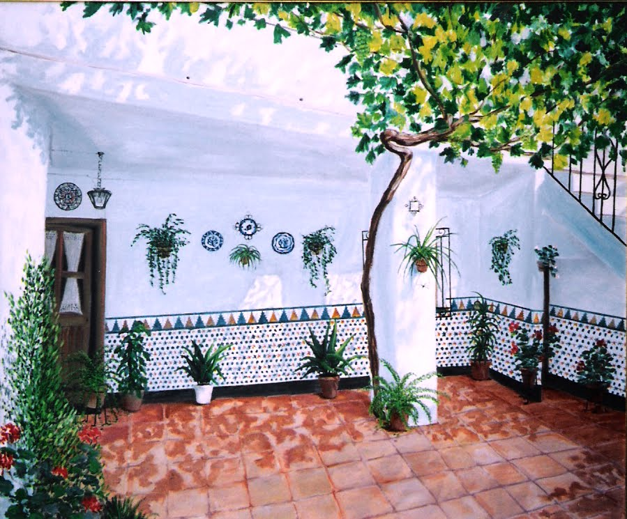 Azulejos patio andaluz parque de febrero el rosedal y los - Azulejos patio andaluz ...