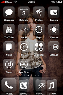 Miley Cyrus iPhone Theme