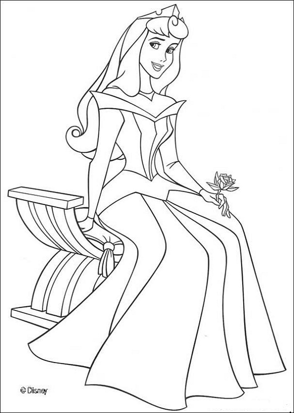 Disney princess coloring pages free printable for Princess printable color pages