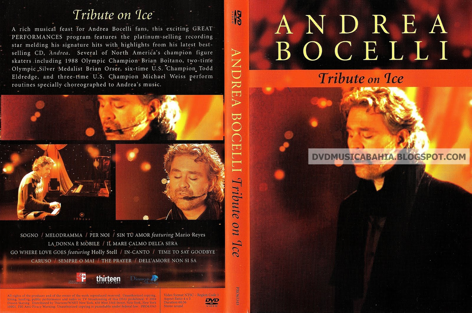 Andrea bocelli tribute on ice dvd