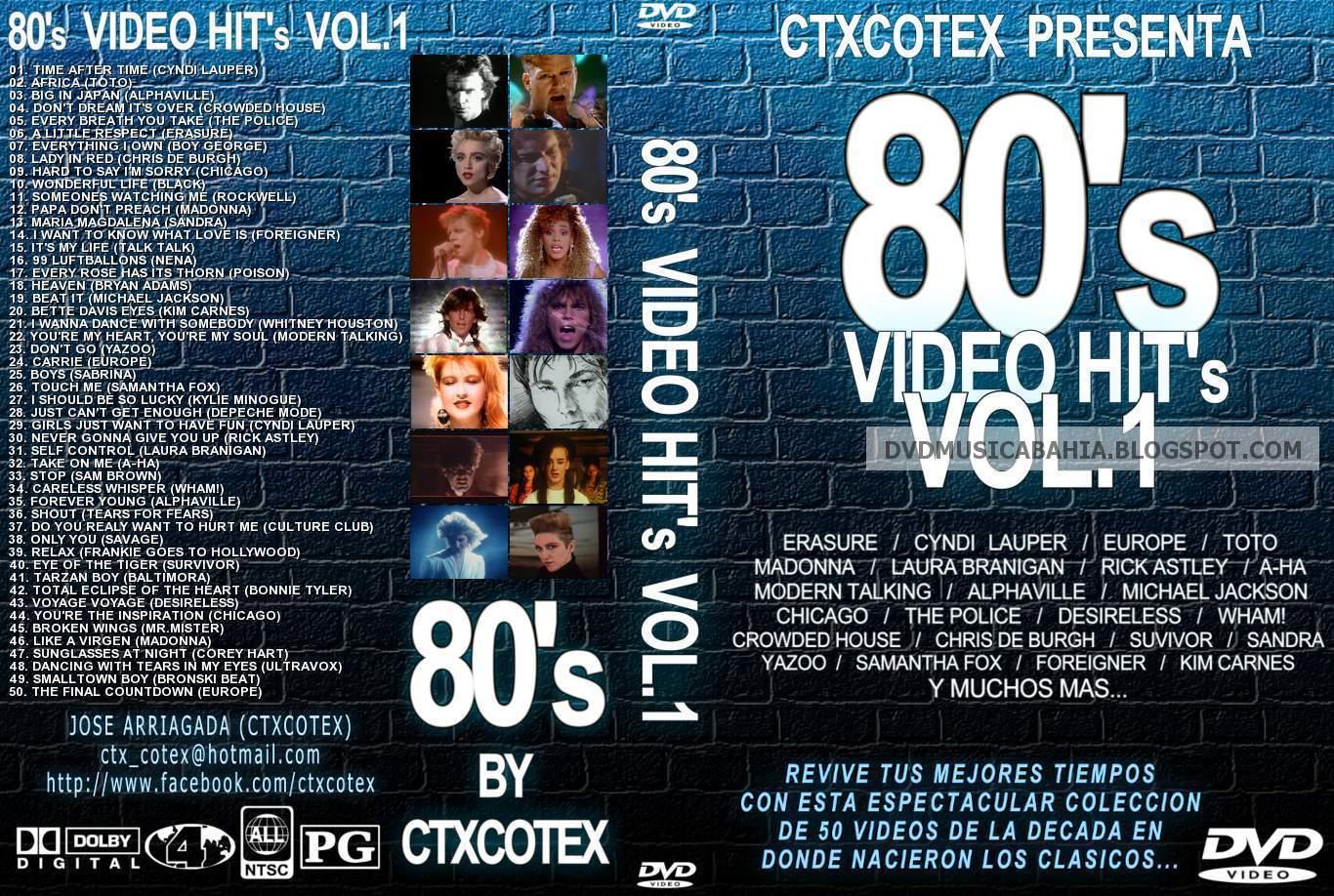 LOS MEJORES DVD DE MUSICA Y MAS....!!!!: 80s VIDEO HITS VOL 1 - BY ...
