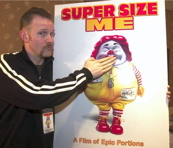 the issue of obesity in supersize me a film by morgan spurlock Super size me is a 2004 american documentary film directed by and starring  morgan spurlock,  the reason for spurlock's investigation was the increasing  spread of obesity throughout us society, which the  and that, overall, the film's  high comedy factor and over-familiarity of the subject matter render it less  powerful.