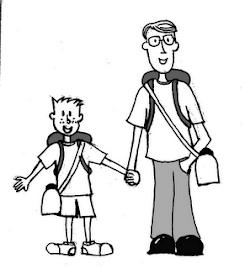 Pai acompanhando o seu filho