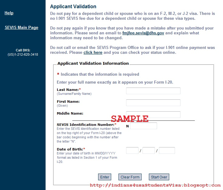 Indians Applying for USA Student Visa: SEVIS (I-901 Form)