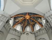 boveda gotica con frescos renacentistas