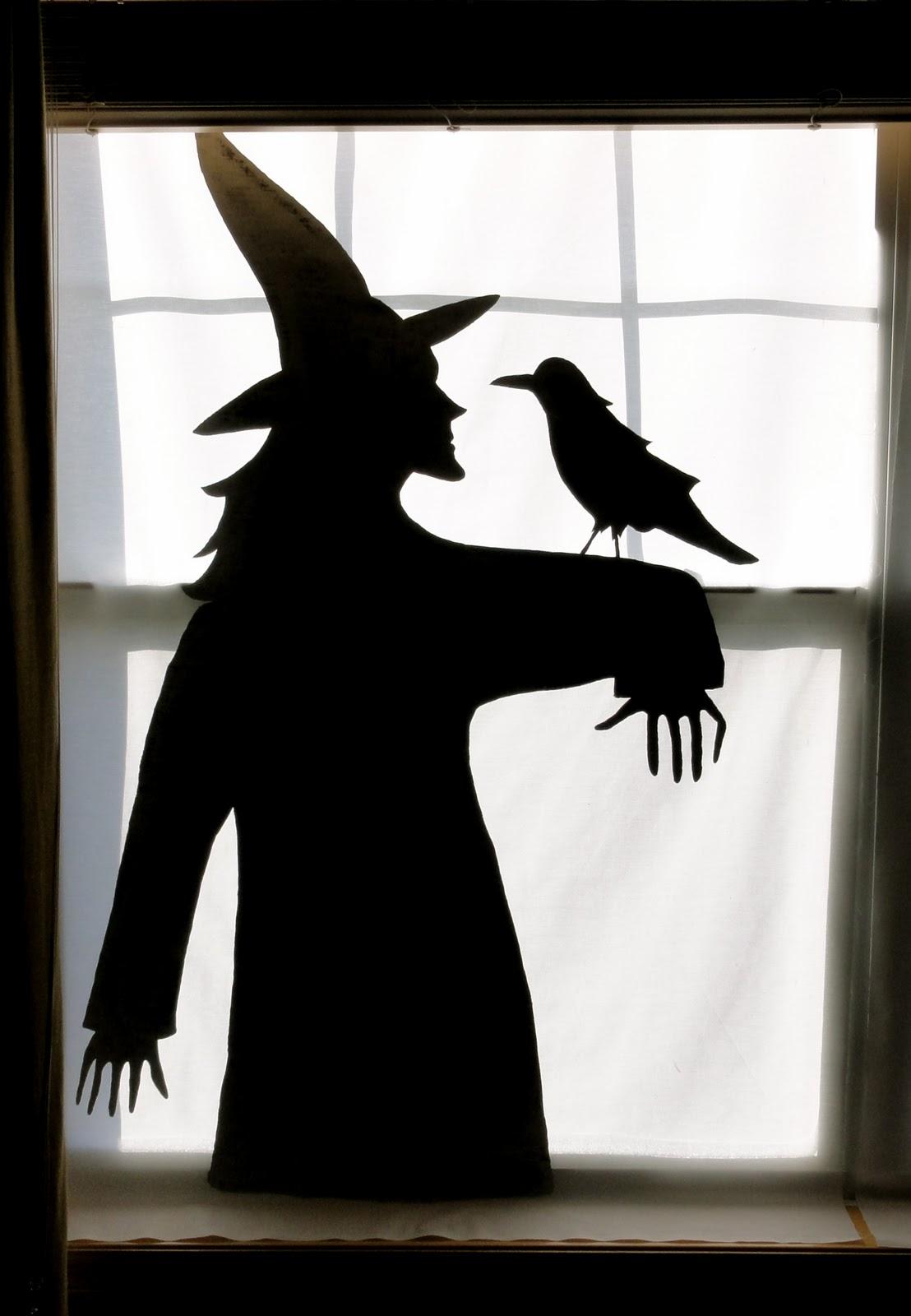 Birshykat witch with caldron window silhouette - Halloween fensterbilder ...