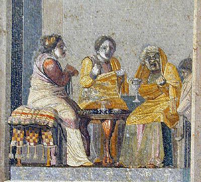 Plautus' comedies - Roman mosaic