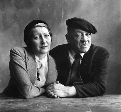 Cendrars and wife, 1950