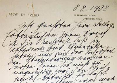 Lettera di Freud ad un collega che emigrava in America - 8 agosto 1938