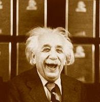 Einstein's laugh