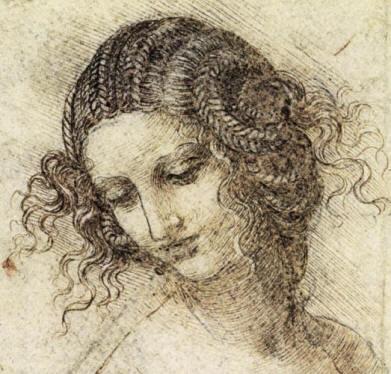 Leonardo's study for Leda