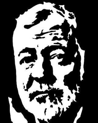 Ernest Hemingway, artist's impression
