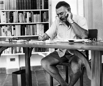 Hemingway at his desk