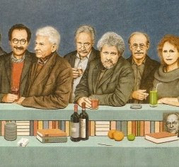 Sebald and friends, at the bar