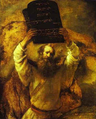 Moses smashing the Tables, Rembrandt
