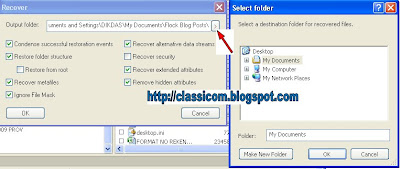 Recovery atau mengembalikan data yang hilang atau data folder yang  ter hidden akibat virus dengan R-studio