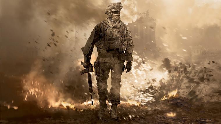 call of duty 4 sniper wallpaper. call of duty 4 sniper