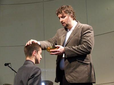 křest Jakuba Hůrského, 12. října 2008, Evangelikální sbor Elim v Písku