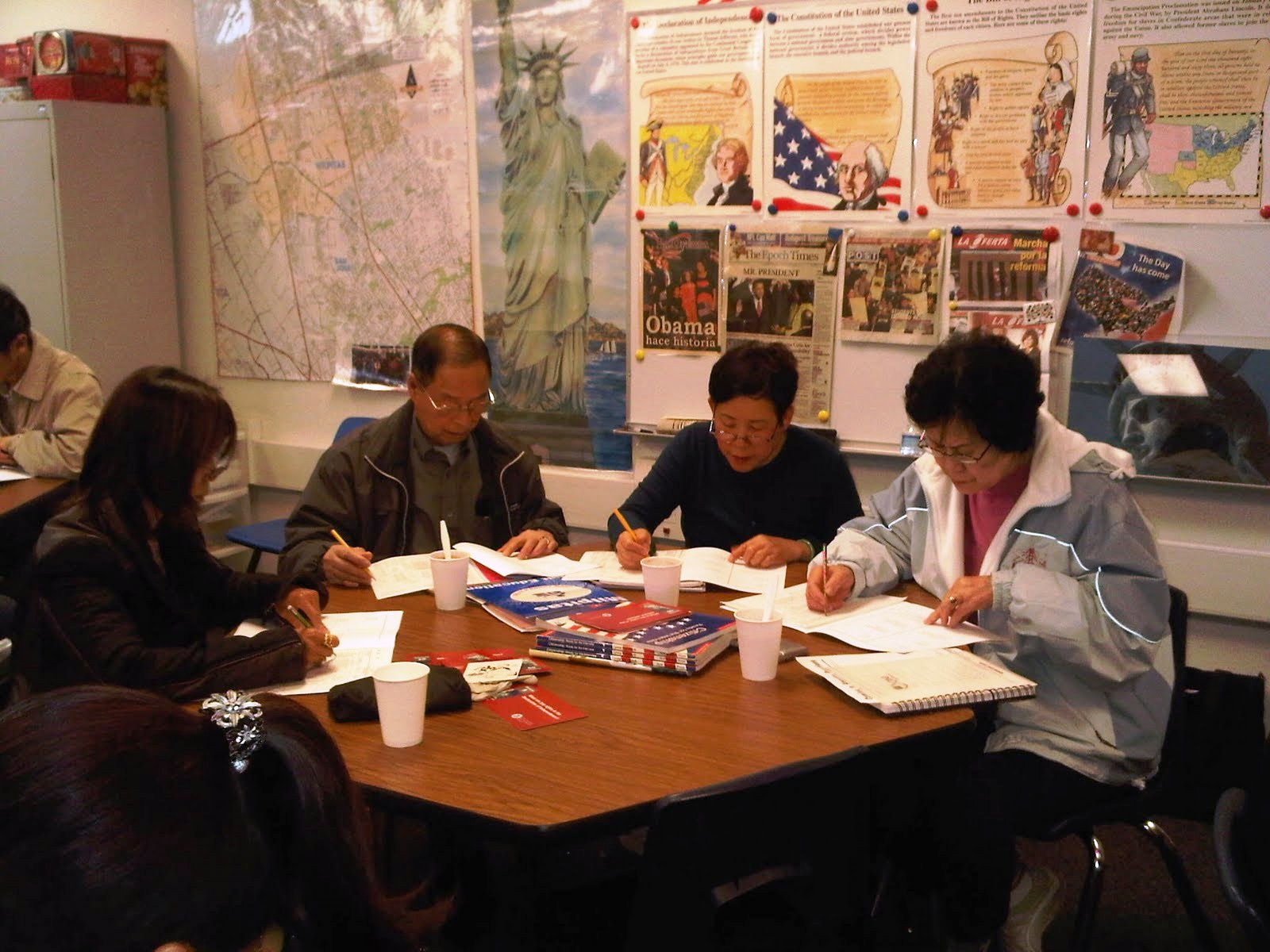 The Milpitas Adult School Citizenship class field tested the 889