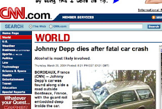 Johnny Depp Died in Car Crash