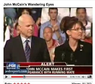 John McCain Checks Out Sarah Palin's Butt In First Speech Friday - Video