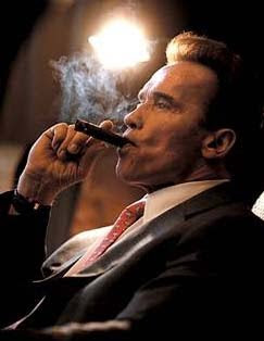 California's economy shrinks; Schwarzenegger smokes
