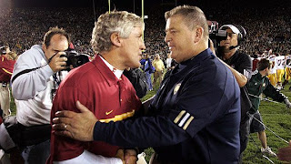 NCAA USC punishment calls Pete Carroll move to Seahawks to question