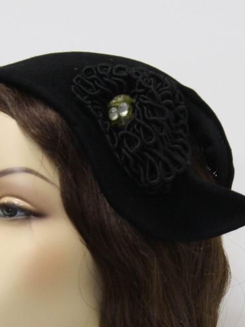Sombrero Vintage Mujer Negro Color Primario Negro -