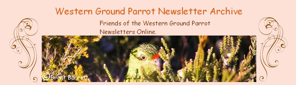Western Ground Parrot Newsletters