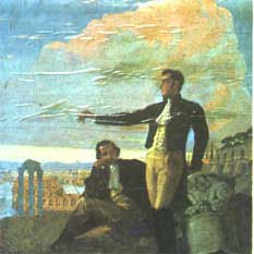 Bolivar en el Monte Sacro, Pintura en el Panten Nacional de Caracas 