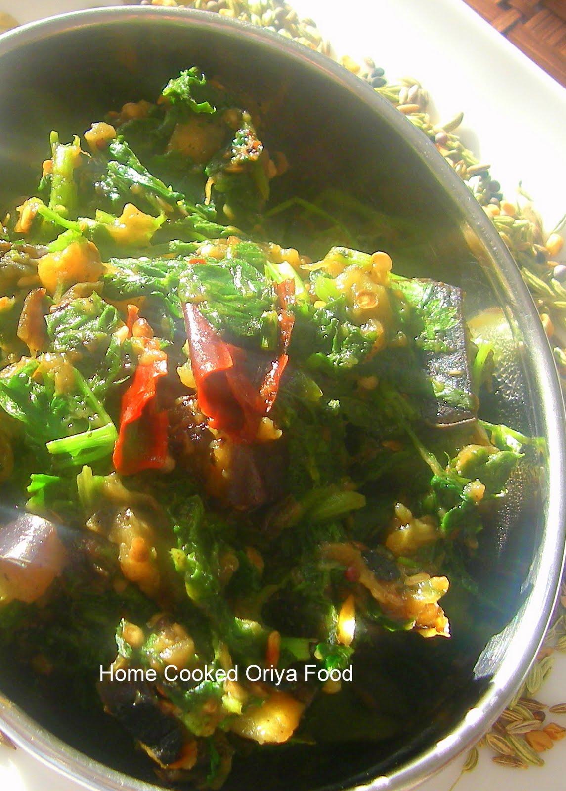 Oriya food saaga of saga or spinach - Cuisine saga but ...