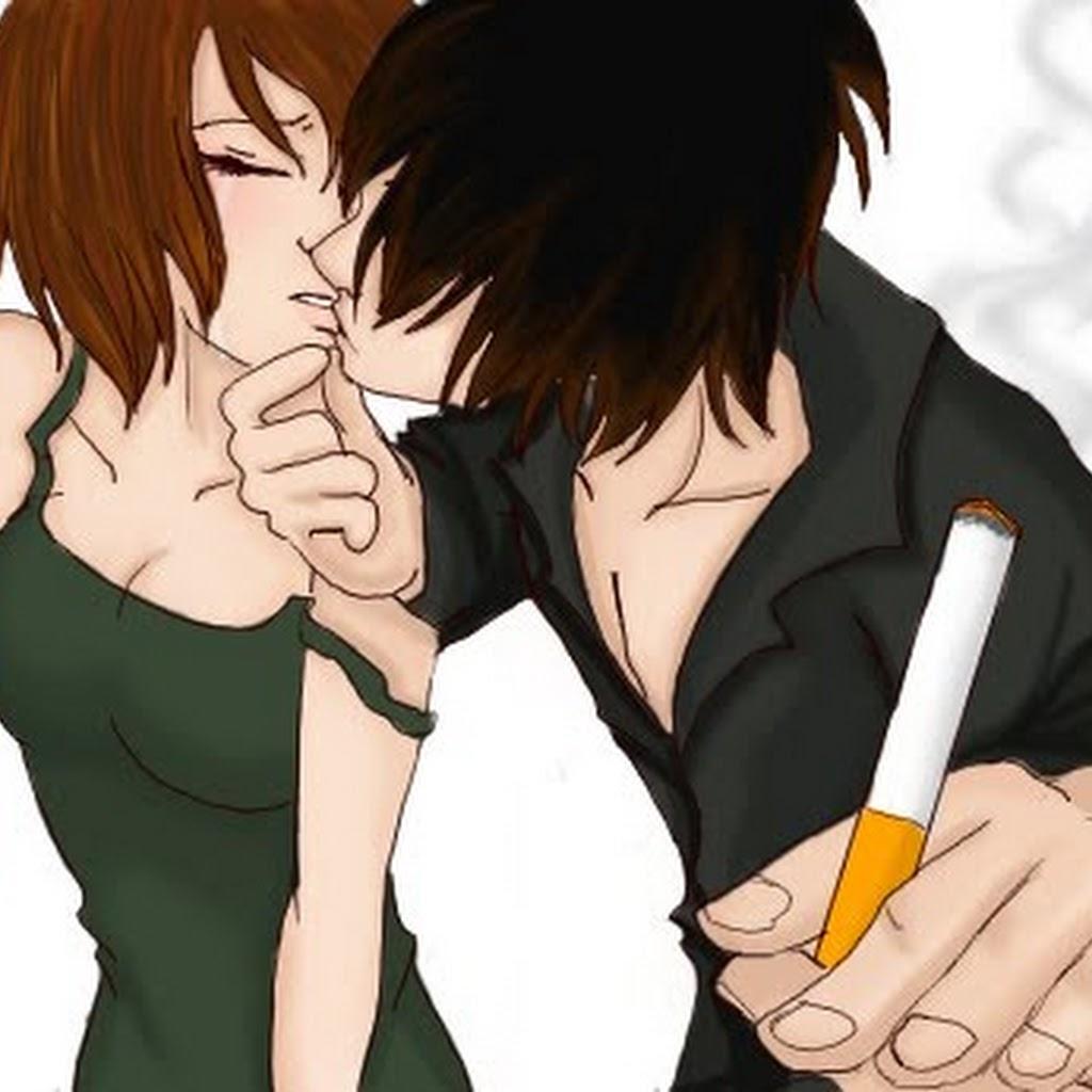 Chibi Anime Couple Hugging Drawing