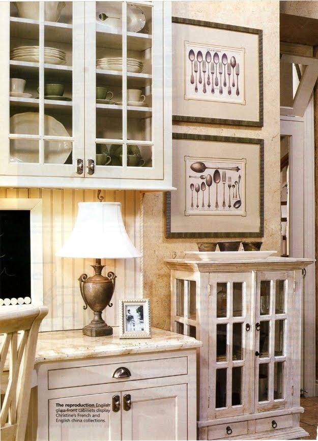white glazed cabinet kitchen office