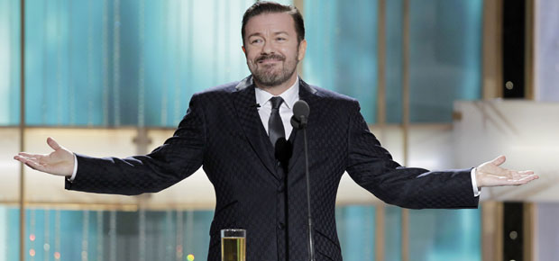 reserving answer ricky gervais hosts satanic ricky gervais