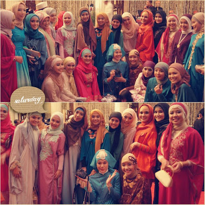 Hijabers at Dian Pelangi, wedding-Saturday