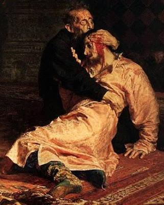 Часть картины Ильи Репина «Иван Грозный и сын его Иван»