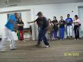Allan praticando Capoeira com Mestre Gilson
