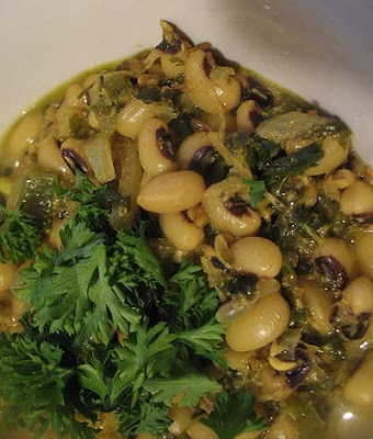 Black-Eyed Peas in a Yogurt Curry