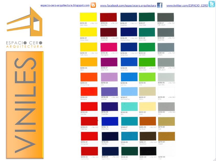 Espacio cero cat logo colores para viniles for Espacio casa catalogo